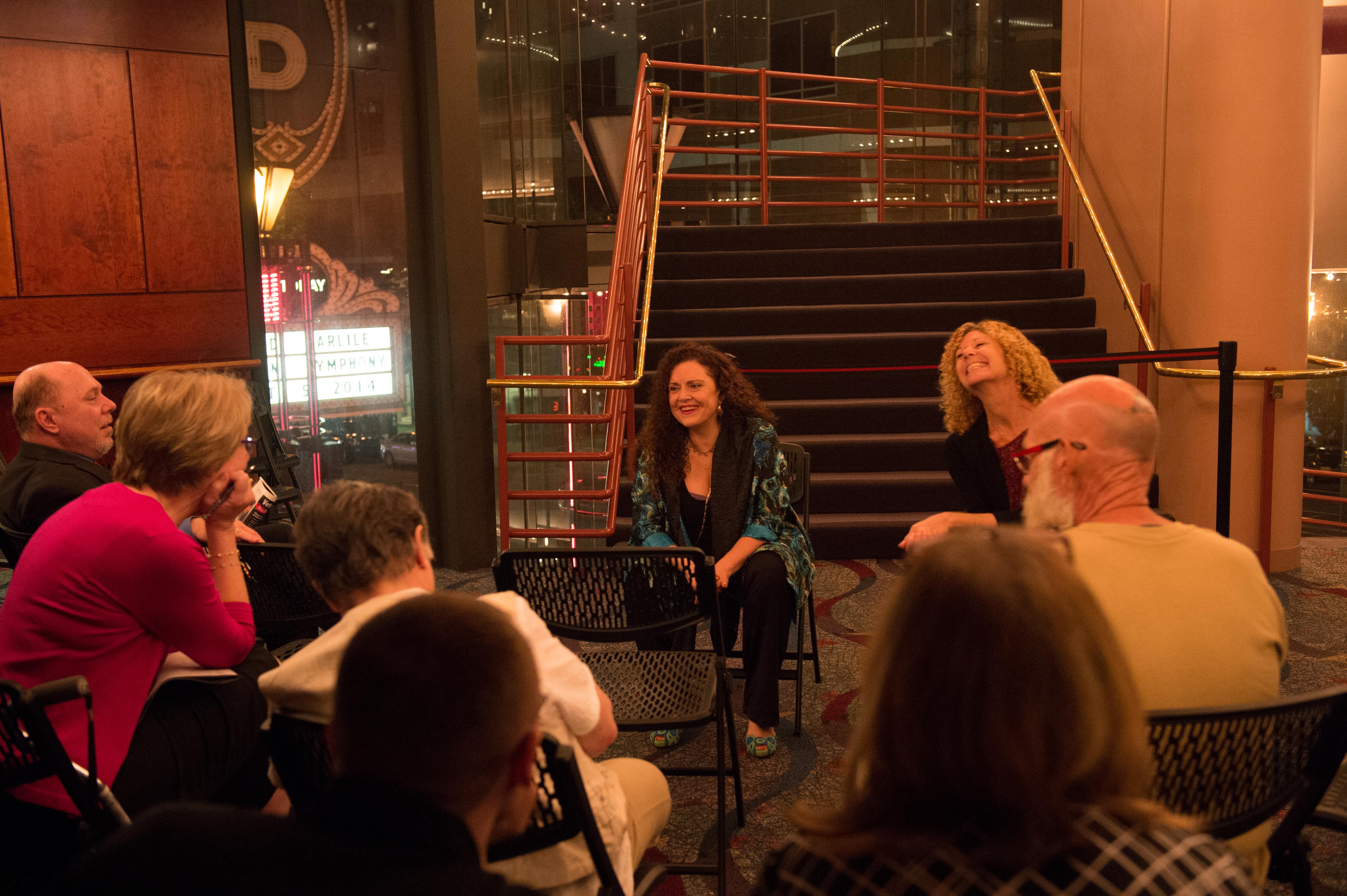 Tiziana DellaRovere and Dr. Suzanne Best  lead a veteran post-event discussion